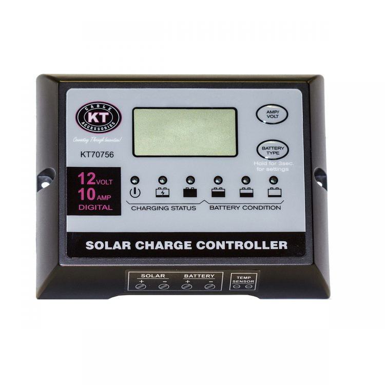 KT Solar Accessories - Solar Panel Regulator 12V 10Amp (KT70756)