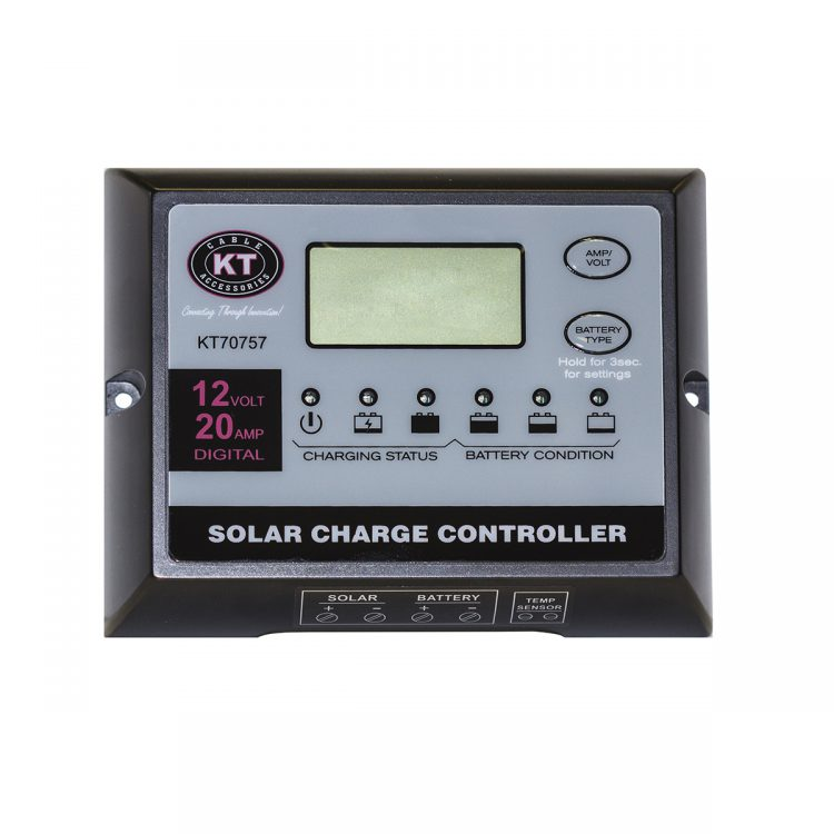 KT Solar Accessories - Solar Panel Regulator 12V 20Amp (KT70757)