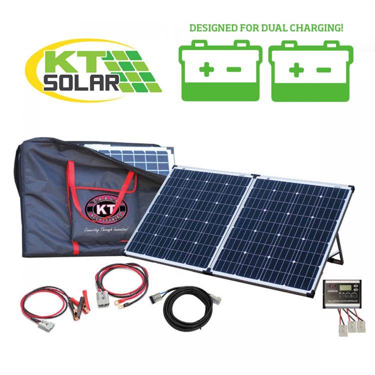 KT Solar - Solar Panel Kit Portable Folding 12V 160Watt Premier Dual Charging (KT70711)
